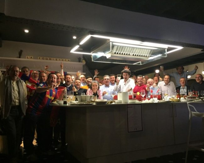 "Champions League Semi final / Bayern München – Barça / ""La Foodieteca"""