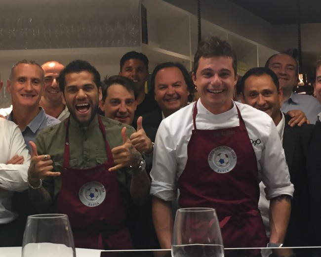 "I ""CHAMPIONS DINNER"" WITH JOAO ALCANTARA (FOGO) AND DANI ALVES – ""LA FOODIETECA"""