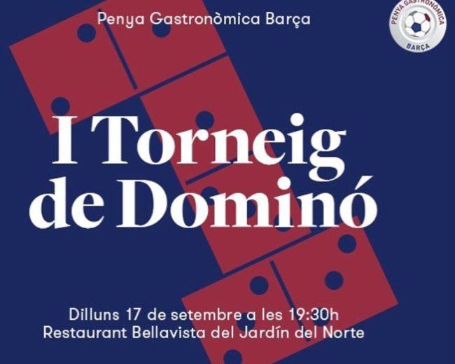 """I TORNEIG DE DOMINÓ PENYA GASTRONÒMICA BARÇA AL """"BELLAVISTA JARDÍN DEL NORTE"""""""